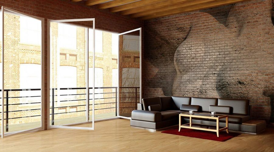 Mural Fresco Artwork Brick Effect