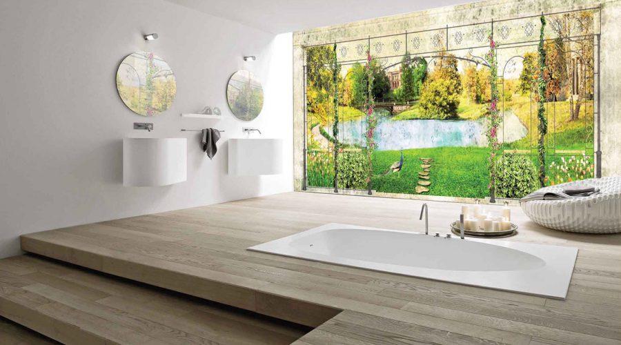 Mural Fresco Painting: Bathroom