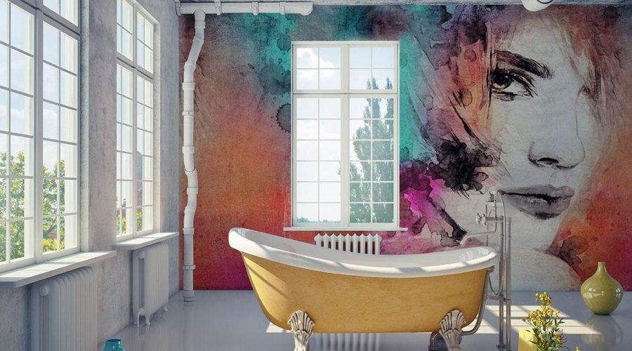 Mural Fresco (artwork):bathroom